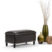 Emily Faux Leather Storage Ottoman in Tanners Brown (3AXCOT-247-BR)