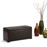 Dorchester 5 piece Faux Leather Storage Ottoman in Tanners Brown (3AXCOT-239)