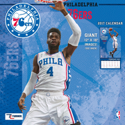 Turner Licensing Philadelphia 76ers 2017 12X12 Team Wall Calendar (17998011891)