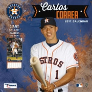 Turner Licensing Houston Astros Carlos Correa 2017 12X12 Player Wall Calendar (17998012069)
