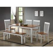 Boraam Bloomington 6-Piece Dining Set, White and Honey Oak (22034)