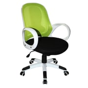 Boraam 97919 Nelson Upholstered Office Chair in Lime Green, Black and White