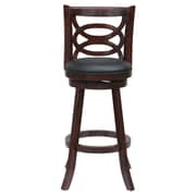 "Boraam Seina 24"" Counter Stool, Cherry (61924)"