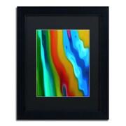 """Trademark Fine Art Amy Vangsgard 'River Runs Through Vertical 2' 11"""" x 14"""" Matted Framed (886511936652)"""