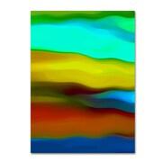 "Trademark Fine Art Amy Vangsgard 'River Runs Through Vertical 1' 14"" x 19"" Canvas Stretched (886511936515)"
