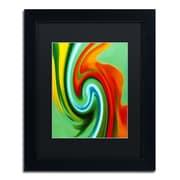 """Trademark Fine Art Amy Vangsgard 'Abstract Flower Unfurling Vertical 2' 11"""" x 14"""" Matted Framed (886511933774)"""