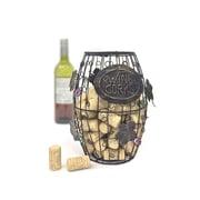 Mind Reader 'Corky' Metal Wine Cork Holder with Ornaments, Bronze