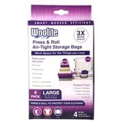 Woolite 4 Piece Air-Tight Vacuum Storage Bags Multi-Pack