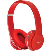 2BOOM HPBT345R Thunder Bluetooth Over-Ear Headphones with Microphone (Red)