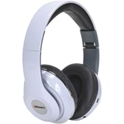 2BOOM HPBT380W Epic Jam Bluetooth Over-Ear Headphones with Microphone (White)