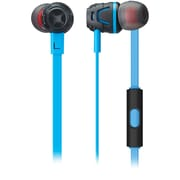PHIATON C450S Light Blue Extreme Bass Boosting In-Ear Headphones with Microphone (Light Blue)