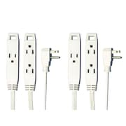 2 Pack Axis 45505 3-outlet Indoor Extension Cord, 8ft (white)