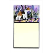 Carolines Treasures Fox Terrier Refiillable Sticky Note Holder or Postit Note Dispenser( CRLT60503)