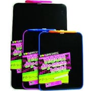 Dooley Manufacturing Co Vinyl Framed Black Surface Neon Dry Erase Board 9x11 Black (DGC13546)