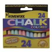 A+HOMEWORK Chalk, Assorted Colors, 3 inch sticks, 24 box., Case of 48 (DLRDY198737) by