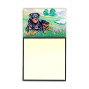 Carolines Treasures Rottweiler Refiillable Sticky Note Holder Or Postit Note Dispenser, 3 x 3 In.( CRLT58570)