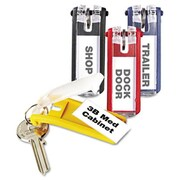 Durable Key Tags for Locking Key Cabinets- Plastic- 1-1/8 x 2-3/4- Assorted- 24/Pack (AZDURA1949-00)