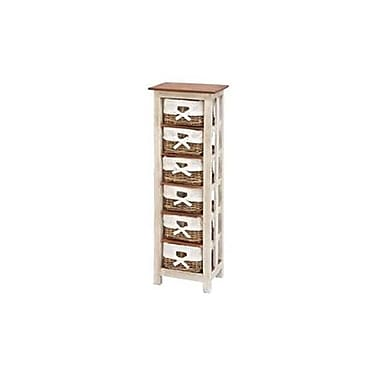 a nation shabby wood rattan cabinet 50 in