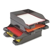 Deflect-O Corporation Multi-Directional Stacking Tray- 10in.x13-.75in.x2-.50in.- 2-ST- BK (SPRCH16426)
