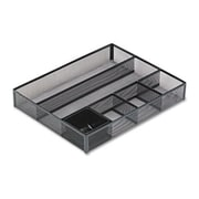 Eldon Office Products Deep Desk Drawer Organizer, Metal Mesh, Black (AZERTY21270)