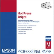 Epson Hot Press Bright Fine Art Paper 17'' x 50 ft Bright White Roll (AZEPSS042333)
