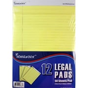 DDI Legal Pads - Yellow Paper - 8.5 in. x 11 in. -12pk Case Of 6 (DLRDY273138)