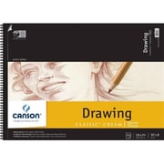 Canson 18 in. x 24 in. Artist Series Classic Cream Drawing Paper Wire Bound Pad - 24 Sheets (ALV13450)