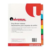 Universal Extended Indexes Assorted Color Eight-Tab Letter Buff Six Sets per Box (AZRUNV21876)