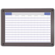 Iceberg Enterprise Clarity Custom Print Glass Dry Erase Board, 24.5 x 18.5 in. - Gray Frame (AZTY07113)