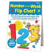 SCHOLASTIC TEACHING RESOURCES NUMBER OF THE WEEK FLIP CHART (EDRE45784)