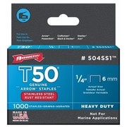 Arrow Fastener Co. .25in. T50 Stainless Steel Staples (JNSN22762)