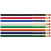 Musgrave Pencil Co Inc Musgrave No 2 Dozen Wood Case Hex Pencils Assorted Colors (EDRE39589)