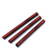 Dixon Ticonderoga Oriole Woodcase Flat Carpenters Pencil, Soft, Red, Dozen (AZTY04516)