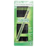 Dixon Ticonderoga 10 Count Wood Grain No. 2 Pencils - Pack of 6 (JNSN30563)