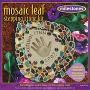 Milestones Mosaic Leaf Stepping Stone Kit (NMG8653)
