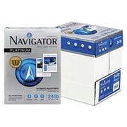 Navigator Platinum Paper- 99 Brightness- 24lb- 8-1/2 x 11- White- 2500/Carton( AZNAVINPL11245R)