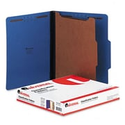 Universal Pressboard Classification Folders Ltr 4-Section Cobalt BE 10/bx (AZRUNV10201)