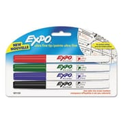 Sanford Ink Company Low-Odor Dry-Erase Marker, Ultra Fine Point, Assorted, 4/Pack (AZERTY21496)