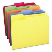 Smead File Folders 1/3 Cut Top Tab, Bright Assorted Colors, 100/box ( AZTY14361)