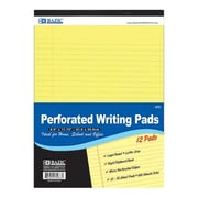 Bazic 5038- 6 50 Ct. 8.5 in. x 11.75 in. Canary Perforated Writing Pad- Pack of 6 (BAZC723)