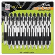 Zebra Pen Corp. Z-Grip Retractable Ballpoint Pen, Black Ink, Medium, 24/Pack (AZERTY22213)