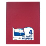 Bulk Buys Two Pocket Folders with 3 Fasteners - 4 Pack-Asst. - Case of 48( DLRDY236581)
