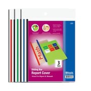 Bazic Clear Front Report Covers with Sliding Bar - Pack of 144 (BAZC1488)