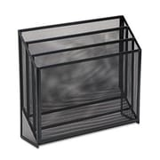 Eldon Office Products Mesh Three-Tier Organizer, 12 3/4 x 3 1/2 x 11 1/2, Black (AZERTY21281)