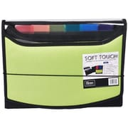 Filexec Soft Touch Padded Canvas Window Expanding File, 13 Pockets, Green (FLXC009)