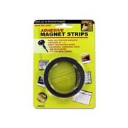 """Bulk Buys 30"""" x 1/2"""" Black Adhesive Magnet Strips - Pack of 24 (KOLIM22137)"""