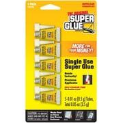 Super Glue Corp. Super Glue Single Use Minis- 12 Packs of 5 each (SUPGLUE017)
