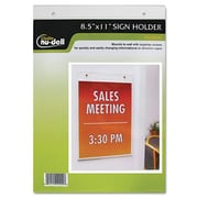 Glolite Nudell, Llc Clear Plastic Sign Holder, Wall Mount, 8 1/2 x 11 (AZERTY20692)