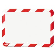 Tarifold High Visibility Safety Frame Display Pocket-Magnet Back, 10.25 x 14.5, Red & White (AZTY15289)