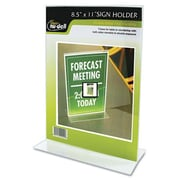 Glolite Nudell, Llc Clear Plastic Sign Holder, Stand-Up, 8 1/2 x 11 (AZERTY20696)